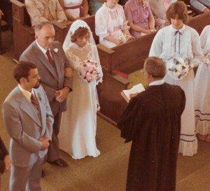 John and Karen - and Pastor Jimmy Miller, June 21, 1980