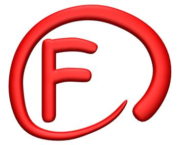 F grade