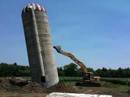 silo and backho