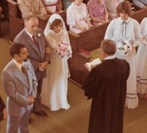 John and Karen - and Pastor Jimmy Miller, June 21, 1980