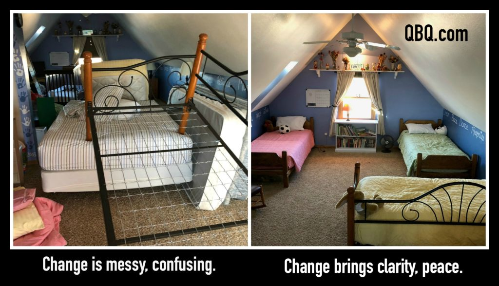shared bedroom, change, chaos, dealing with change